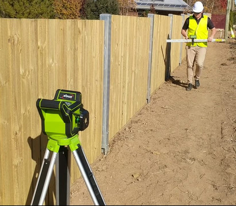 Imex i88G H/V Green Beam Rotating Laser Level with LRX10 Laser Receiver, Rotary Lasers