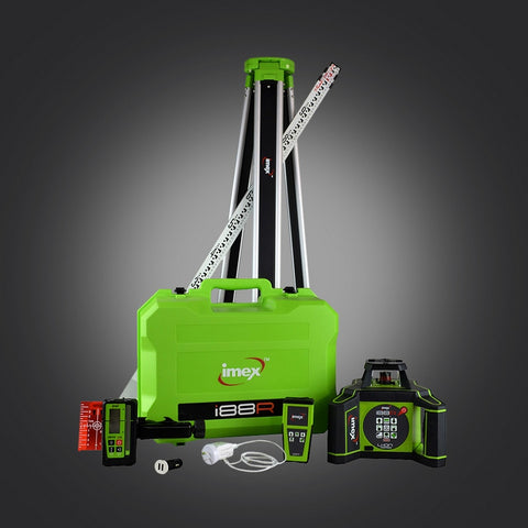 Imex i88R H/V Rotating Laser Level with LRX10 Laser Receiver, Rotary Lasers