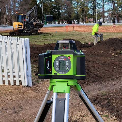 Imex i99R Dual Grade Rotating Laser Level with LRX10 Laser Receiver, Rotary Lasers