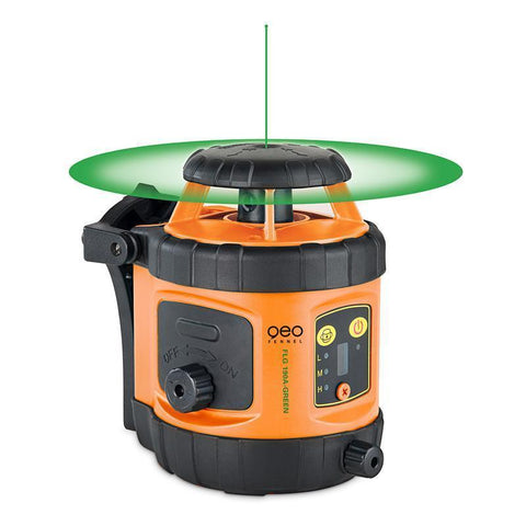PACK Geo Fennel FLG 190A Green Beam Laser Level Package, Detector, Tripod, Staff, Rotary Laser Tools