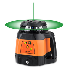PACK Geo Fennel FLG 245HV TRACKING Green Beam Laser Level Package, Detector, Tripod, Staff, Rotary Laser Tools