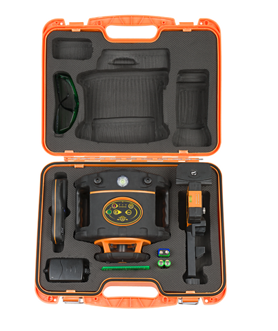 PACK Geo Fennel FLG 265HV Green Beam Laser Level Package, Detector, Tripod, Staff, Rotary Laser Tools
