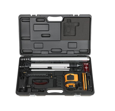 PACK Geo Fennel FL 190A Red Beam Laser Level Package, Detector, Tripod, Staff, Rotary Laser Tools