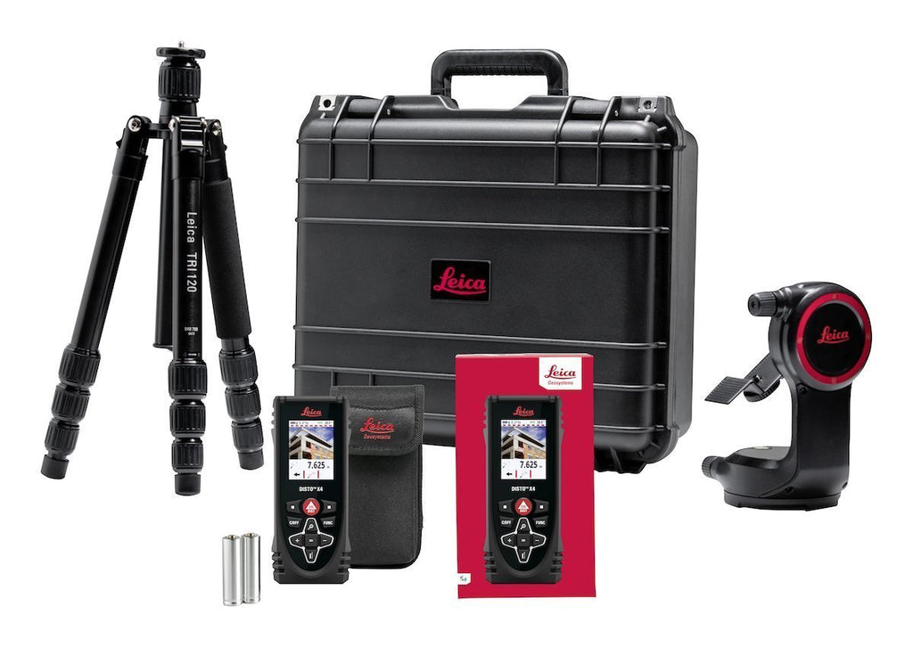 Leica Disto X4 PACKAGE Laser Measure with DST 360, Precision Measuring, Mount & Tripod