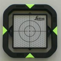 Leica Flat Prism set with poles, bubble and point.