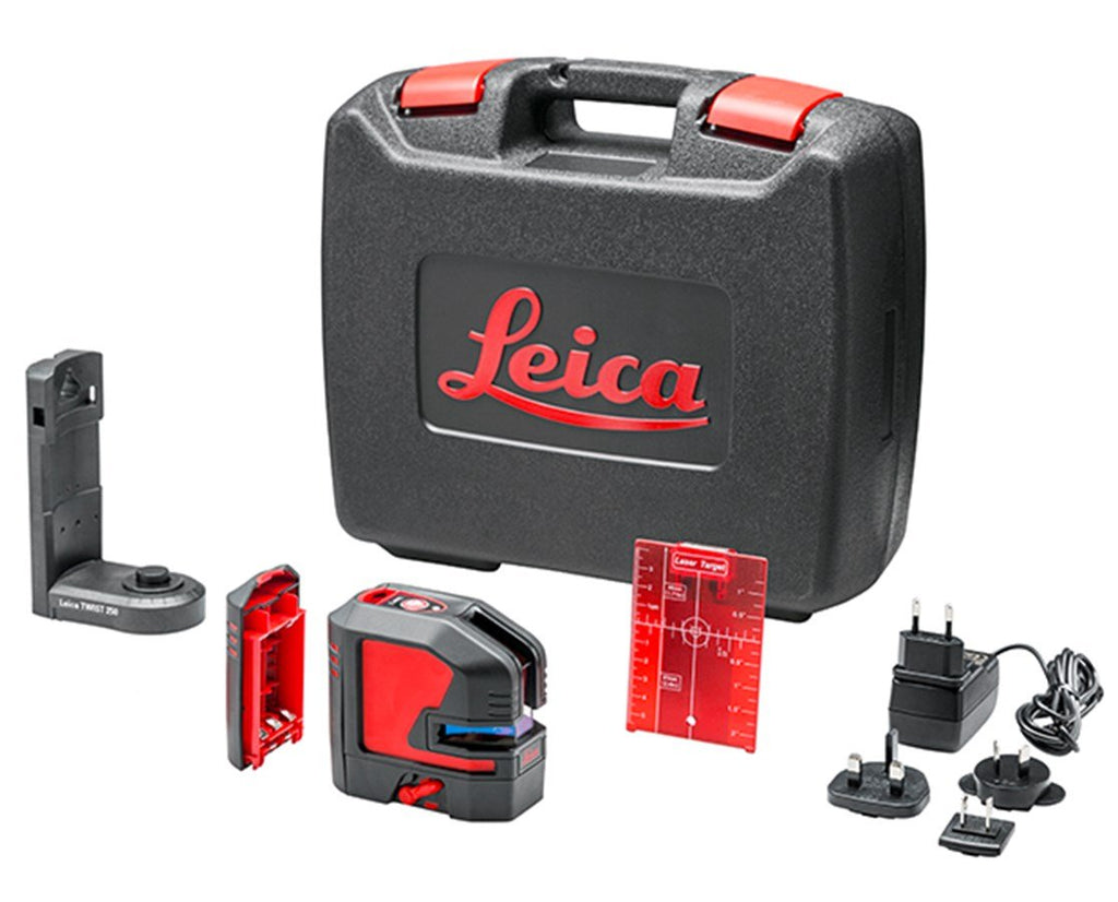 Leica Lino L2- 1 Laser Level Rugged pack Lion battery, TWIST 250 adapter