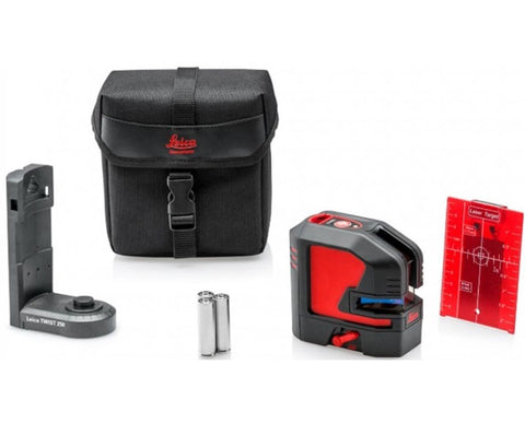 Leica Lino L2s-1, Line Laser Level softcase, alkaline incl TWIST 250 adapter, target