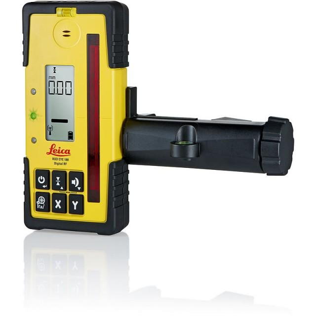 Leica Rod Eye 180A Digital RF Laser Receiver & Bracket *Allows axis alignment with the Rugby 870/880