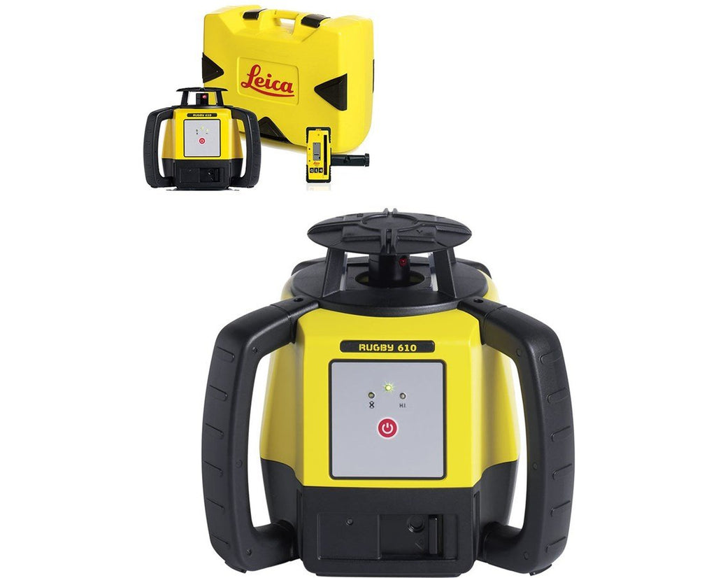Leica Rugby 610 Rotating Laser Level with RodEye 140 Laser Receiver - Li ion