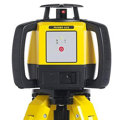 Leica Rugby 610 Rotating Laser Level with RodEye 160 Laser Receiver, bracket, case
