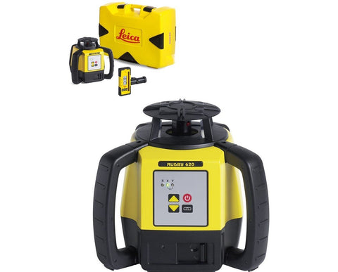 Leica Rugby 620 Rotating Laser Level with RodEye 120 Laser Receiver