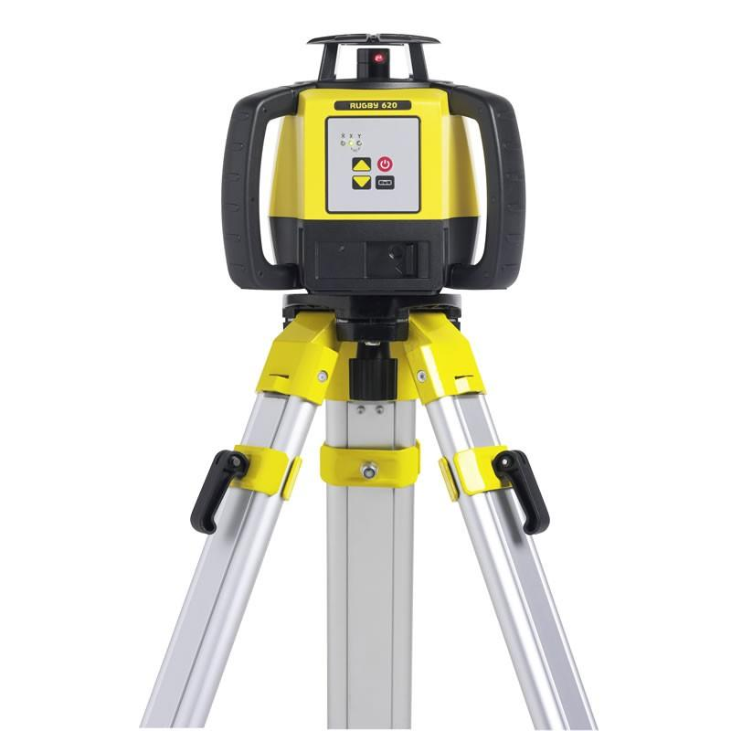 Leica Rugby 620 Rotating Laser Level with RodEye 140 Laser Receiver