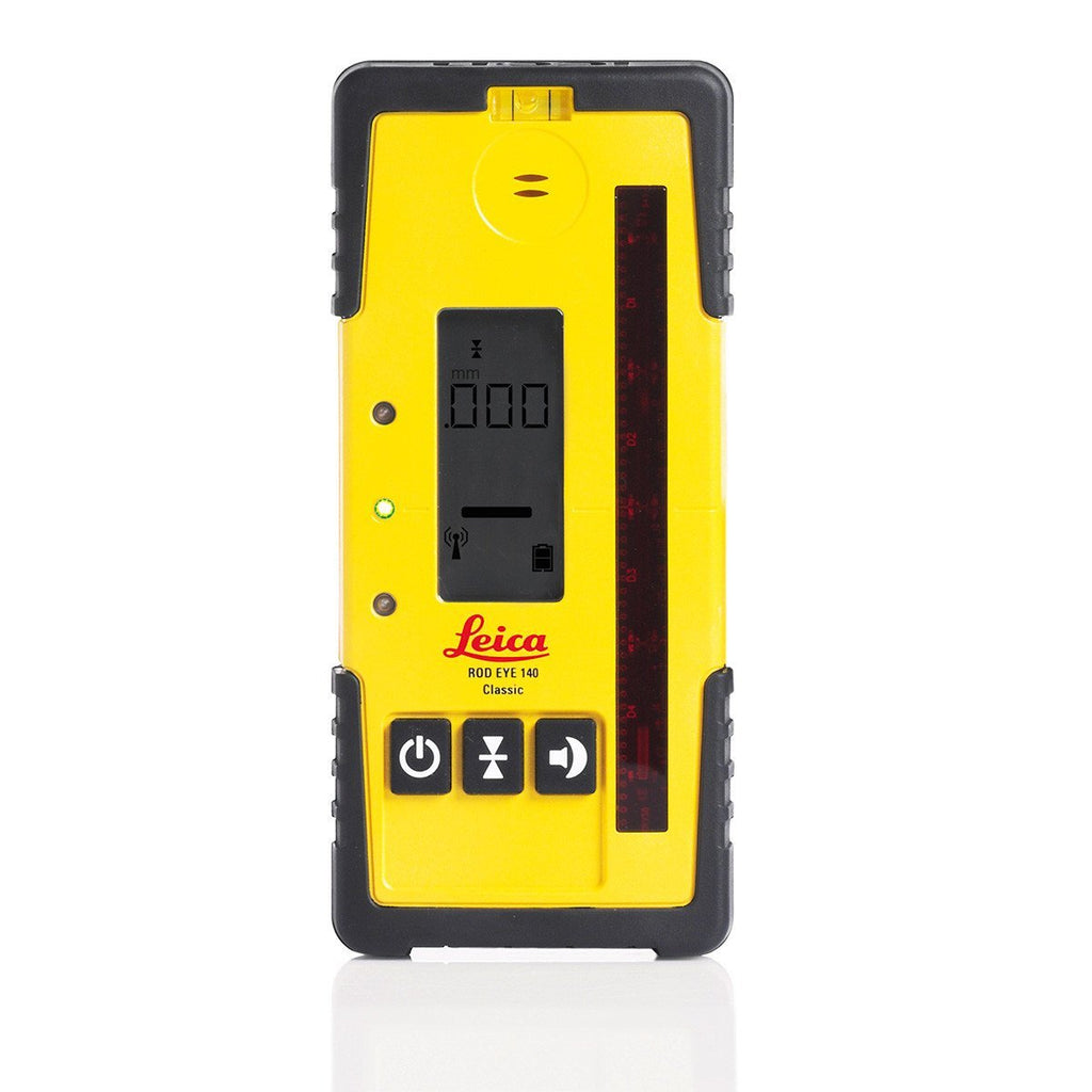 Leica Rugby 820 Rotating Laser Level Alkaline pack with RodEye 140 Laser Receiver
