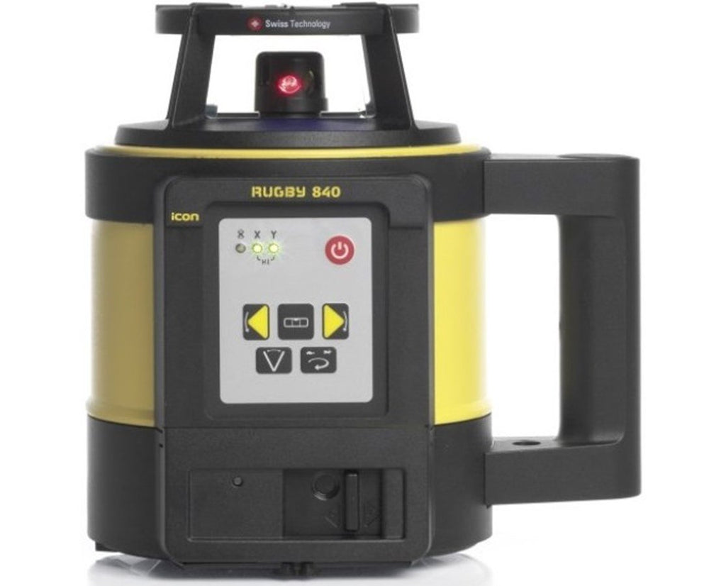 Leica Rugby 840 Rotating Laser Level Alkaline Pack with RodEye 180 Laser Receiver