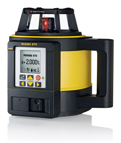 Leica Rugby 870 Rotating Grade Laser Level with RodEye 160 Digital Laser Receiver