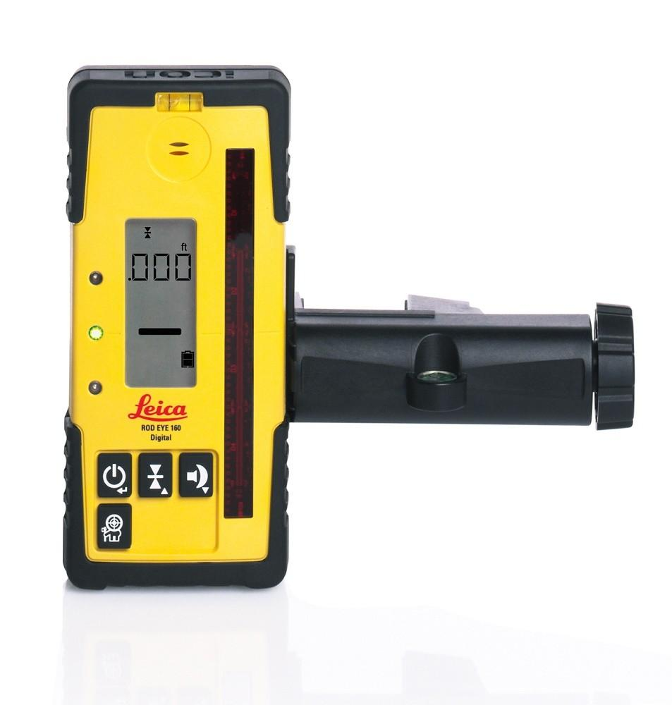 Leica Rugby 870 Rotating Grade Laser Level with RodEye 160 Digital Laser Receiver LI-ION