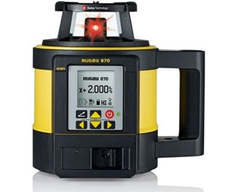 Leica Rugby 870 Rotating Grade Laser Level with RodEye 180a Digital Laser Receiver LI-ION