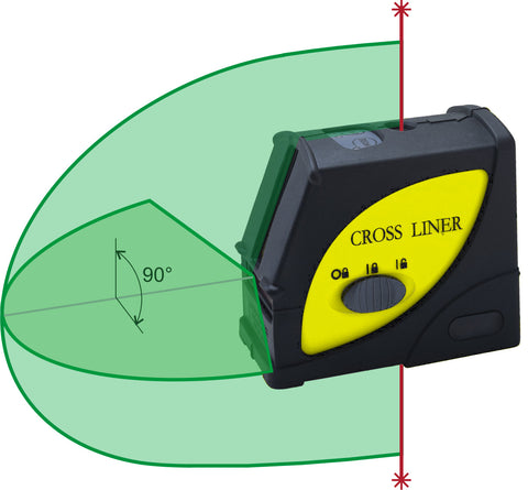 MCE Lasers LAS.603HG CROSS LINER LASER GREEN Beam Laser Level