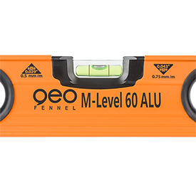 Geo Fennel M-Level ALU 120cm Aluminium Spirit Level Professionals, Extremely Robust