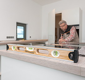 Geo Fennel M-Level 120cm ECO Bamboo Spirit Level, Strong, Durable, Lightweight Quality