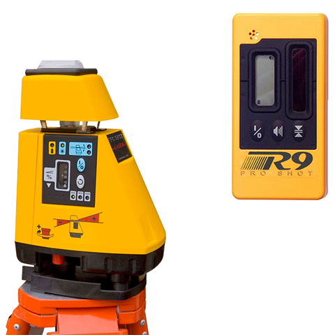 Pro Shot AS2 Magnum Rotating Grade Laser Level, AS-2 Magnum inc - R9 Laser Receiver, Rotary Laser Tools