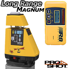 Pro Shot AS2 Magnum Rotating Grade Laser Level with R8 Receiver, Rotary Laser Tools