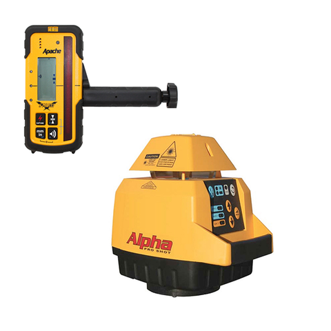 Pro Shot Alpha Rotary Laser Level, Alpha inc - Storm Receiver, Rotating Laser Tools