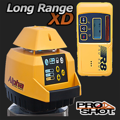 Pro Shot Alpha XD Rotating Laser Level with R8 Laser Receiver, Rotary Laser Tools