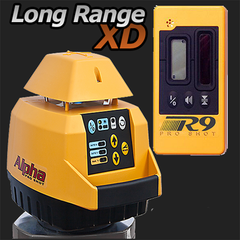 Pro Shot Alpha XD Rotating Laser Level with R9 Laser Receiver, Rotary Laser Tools