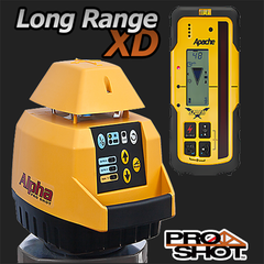 Pro Shot Alpha XD Rotating Laser Level with Storm Receiver, Rotary Laser Tools