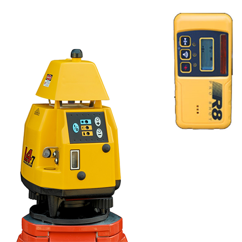 Pro Shot L4.7 Rotating Laser Level, 4.7 inc R8 - Laser Receiver, Rotary Laser Tools