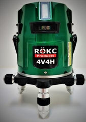 ROKC 4V4HGPG Green Beam Multiline Laser Level