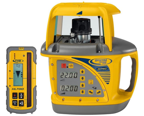 Spectra Precision GL720-AU DUAL GRADE Rotating Laser Level with HL700