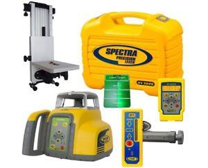 Spectra Precision HV302G-1 Green Beam Rotating Laser Level W RC402N REMOTE,