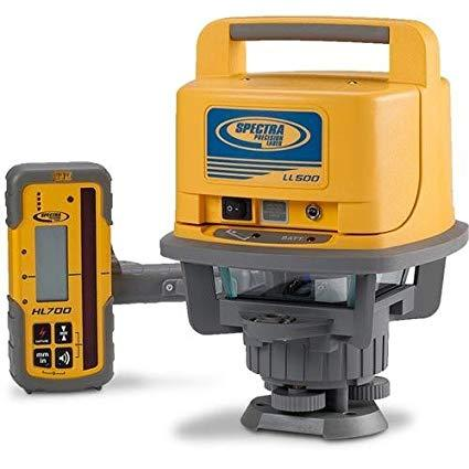 Spectra Precision LL500 Rotating Laser Level with HL 700 Receiver, Rotary Laser