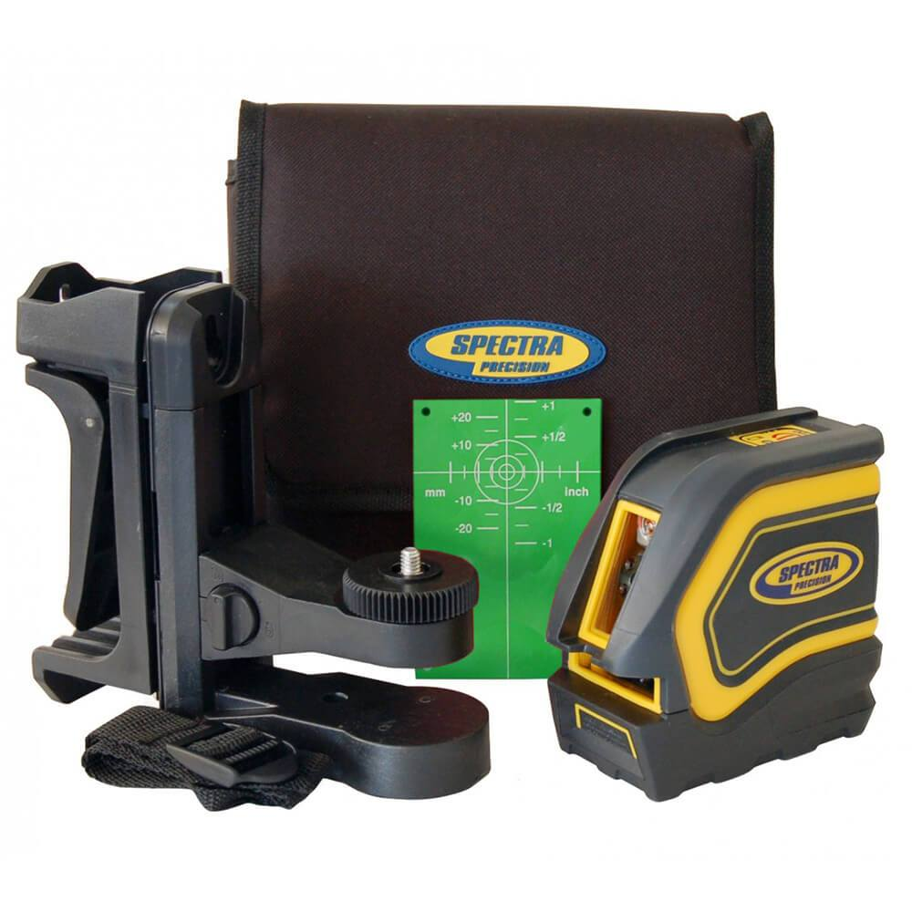 Spectra Precision LT20G Cross Line Laser Level, Green Beam Laser Tool,