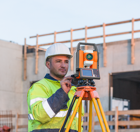 Geo Fennel FTS 102 + Field Genius - Total Station Reflectorless, Laser Measuring Surveying