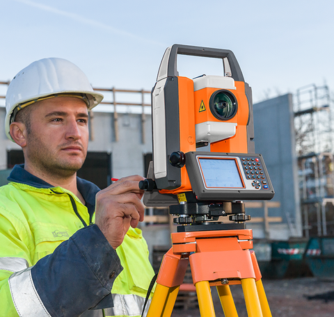 Geo Fennel FTS 102 + SurvCE - Total Station Reflectorless, Laser Measuring Surveying