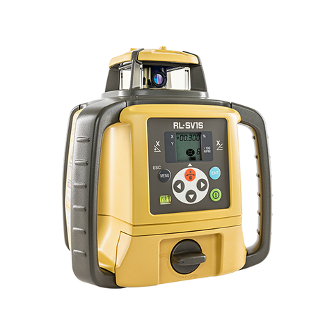 Topcon RL-SV1S Single Grade Rotary Laser Level, Dry Battery PREMIUM - LS100D Receiver, Rotating Laser Level
