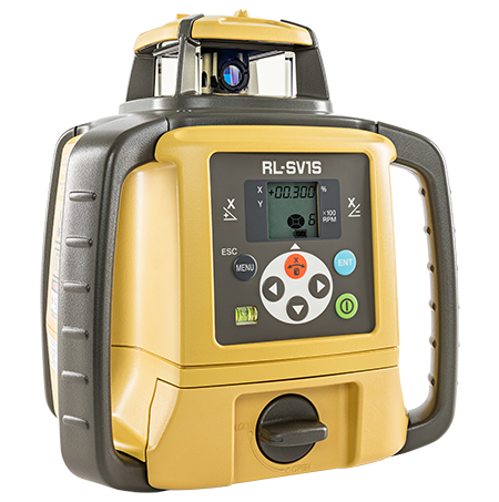 Topcon RL-SV1S Single Grade Rotary Laser Level, Dry Battery STANDARD - LS80L Receiver, Rotating Laser Level