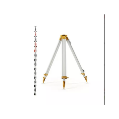 Topcon STANDARD Dome Aluminium Tripod & 5m 5 section E-face staff