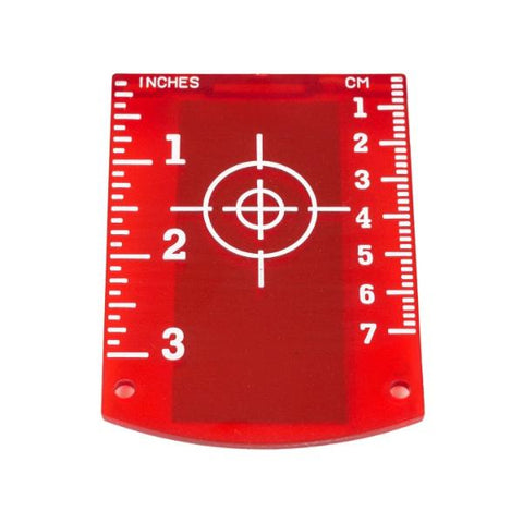 Tuf Lasers - Laser Target - Red for Laser Levels
