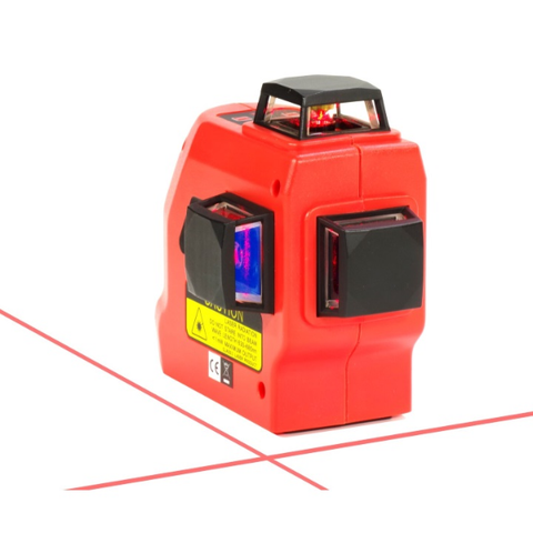 Tuf Lasers CROSSLINE - Red Beam Multi Line Laser Level, 1x360 degree Horizontal & 2 Vertical beams
