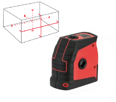 Tuf Lasers CROSSLINE Cross & Point Laser Level Red Beam