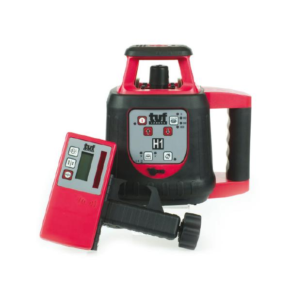 Tuf Lasers H1 Rotating Laser Level control+ manual slope / Red Beam Self levelling , height alert