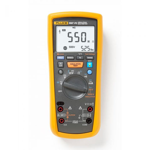 Fluke 1587KIT/62MAX+FC 2-in-1 Adv Elec Troubleshooting Kit W/i400 Current Clamp & 62max+ Ir Thermometer