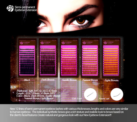 Eyebrow Extension Mix Tray