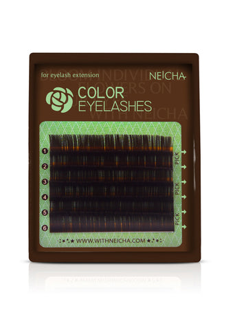 Mini Tray Dark Brown Color Eyelashes