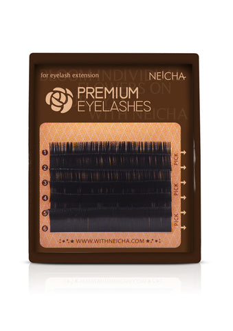 Mini Tray Single Premium Eyelashes in .06, .07, and .10 Thickness