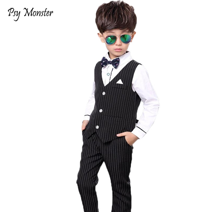 5484aa106e42 Japanese Suits for Weddings Boys Vest +Pants 2pcs Flower Boys Formal Tuxedo  Kids Dress Shirt